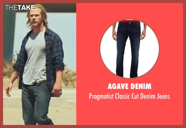 Agave Denim blue jeans from Thor seen with Chris Hemsworth (Thor)