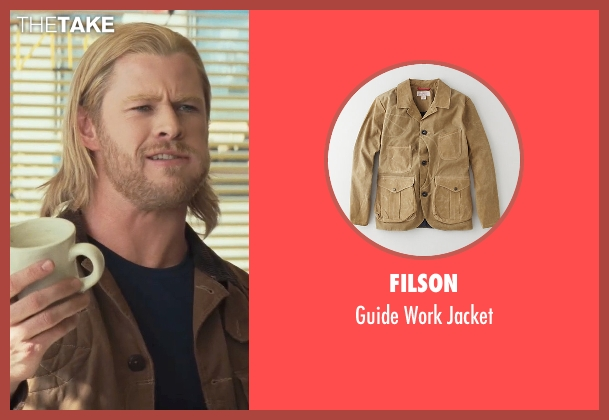 Filson brown jacket from Thor seen with Chris Hemsworth (Thor)