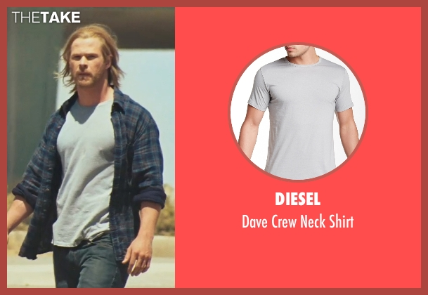 Diesel gray shirt from Thor seen with Chris Hemsworth (Thor)