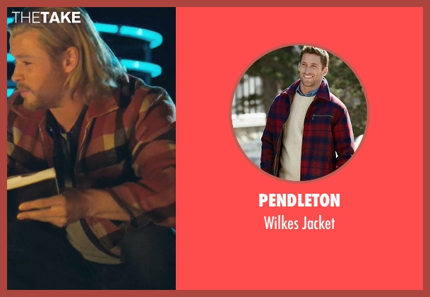 Pendleton red jacket from Thor seen with Chris Hemsworth (Thor)