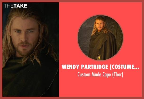 Wendy Partridge (Costume Designer) cape from Thor: The Dark World seen with Chris Hemsworth (Thor)