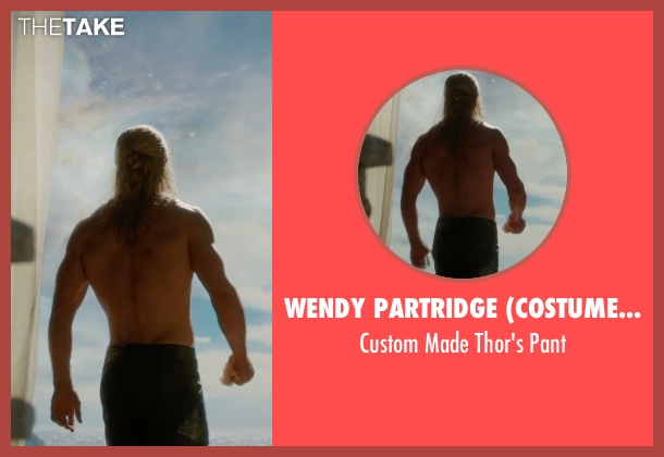 Wendy Partridge (Costume Designer) pant from Thor: The Dark World seen with Chris Hemsworth (Thor)