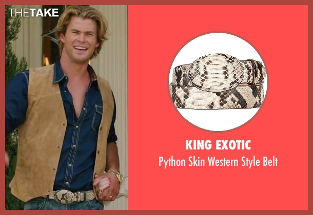 King Exotic belt from Vacation seen with Chris Hemsworth (Stone Crandall)