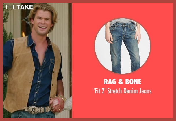 Rag & Bone blue jeans from Vacation seen with Chris Hemsworth (Stone Crandall)