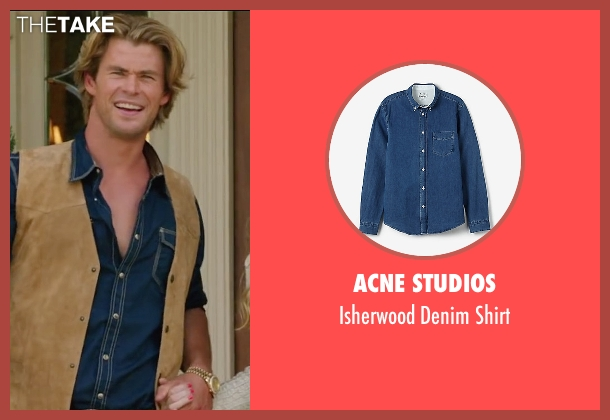 Acne Studios blue shirt from Vacation seen with Chris Hemsworth (Stone Crandall)