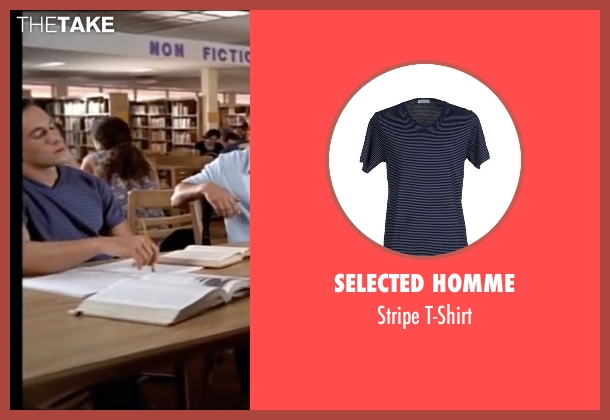Selected Homme blue t-shirt from American Pie seen with Chris Klein (Chris 'Oz' Ostreicher)