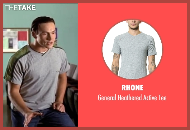 Rhone gray tee from American Pie seen with Chris Klein (Chris 'Oz' Ostreicher)