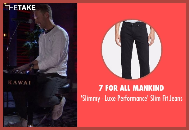 7 For All Mankind black jeans from Chelsea seen with Chris Martin