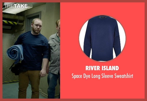 River Island blue sweatshirt from Birdman seen with Chris McFarland (Stagehand (uncredited))