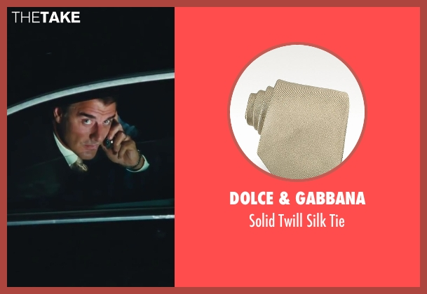 Dolce & Gabbana beige tie from Sex and the City 2 seen with Chris Noth (Mr. Big)