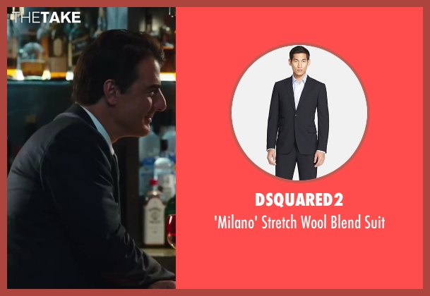 Dsquared2 black suit from Sex and the City 2 seen with Chris Noth (Mr. Big)