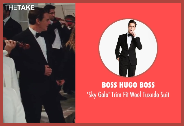 Boss Hugo Boss black suit from Sex and the City 2 seen with Chris Noth (Mr. Big)