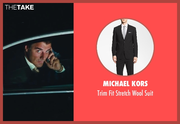 Michael Kors black suit from Sex and the City 2 seen with Chris Noth (Mr. Big)