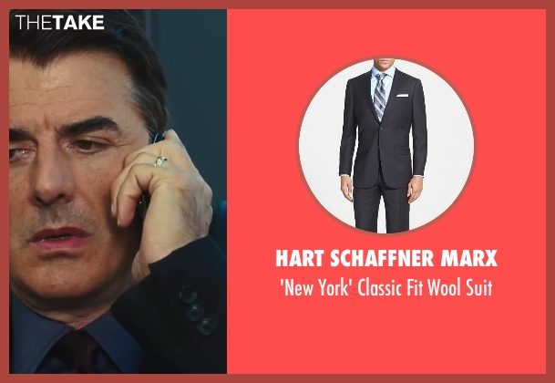 Hart Schaffner Marx black suit from Sex and the City 2 seen with Chris Noth (Mr. Big)