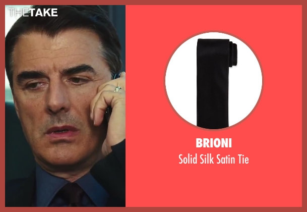 Brioni	 black tie from Sex and the City 2 seen with Chris Noth (Mr. Big)