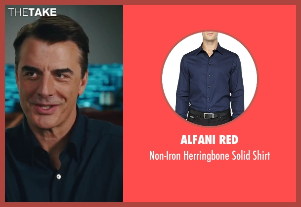 Alfani RED blue shirt from Sex and the City 2 seen with Chris Noth (Mr. Big)