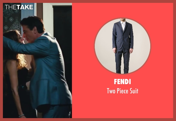 Fendi blue suit from Sex and the City 2 seen with Chris Noth (Mr. Big)
