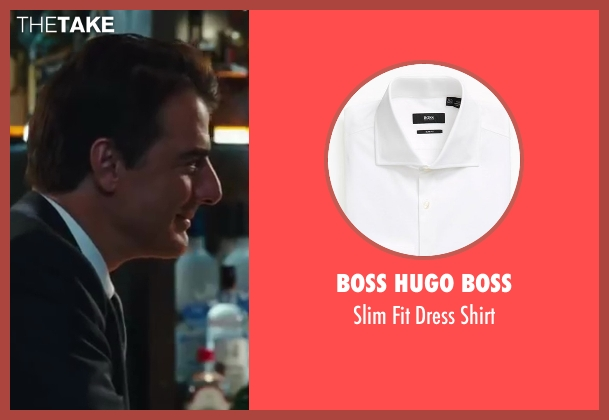 Boss Hugo Boss white shirt from Sex and the City 2 seen with Chris Noth (Mr. Big)