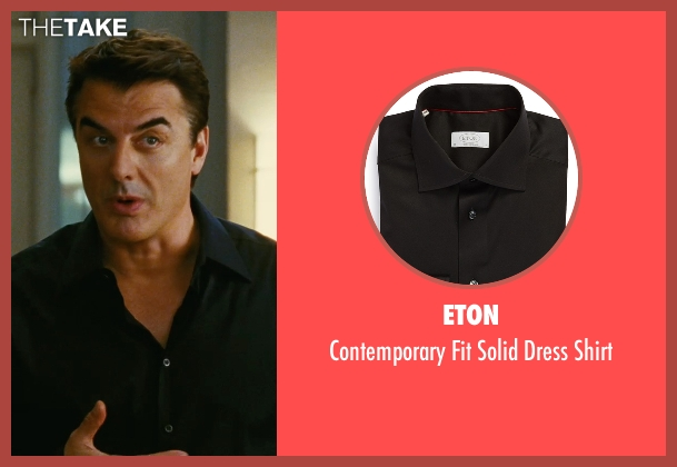 Eton black shirt from Sex and the City seen with Chris Noth (Mr. Big)