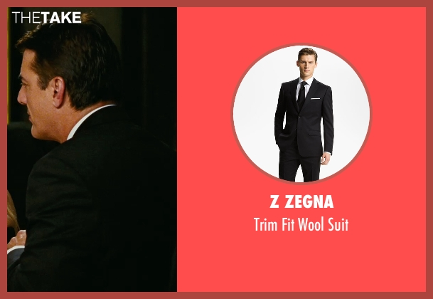 Z Zegna black suit from Sex and the City seen with Chris Noth (Mr. Big)