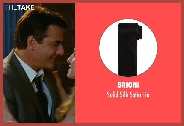 Brioni black tie from Sex and the City seen with Chris Noth (Mr. Big)