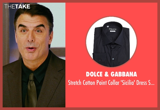 Dolce & Gabbana blue shirt from Sex and the City seen with Chris Noth (Mr. Big)