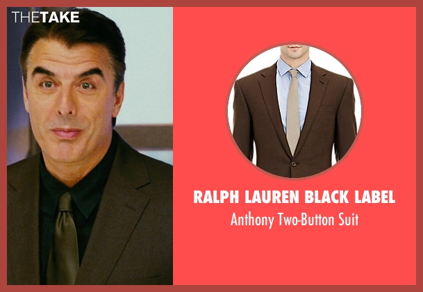 Ralph Lauren Black Label brown suit from Sex and the City seen with Chris Noth (Mr. Big)