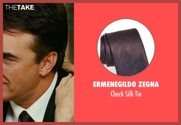 Ermenegildo Zegna brown tie from Sex and the City seen with Chris Noth (Mr. Big)