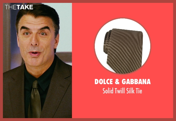 Dolce & Gabbana brown tie from Sex and the City seen with Chris Noth (Mr. Big)
