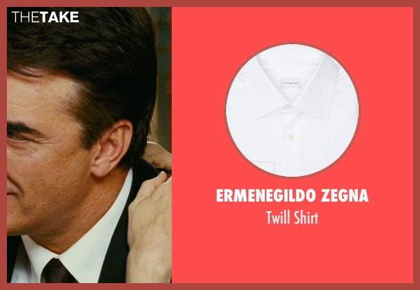 Ermenegildo Zegna white shirt from Sex and the City seen with Chris Noth (Mr. Big)
