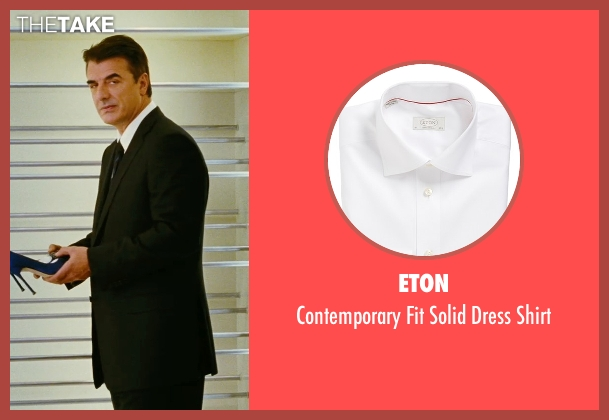 Eton white shirt from Sex and the City seen with Chris Noth (Mr. Big)