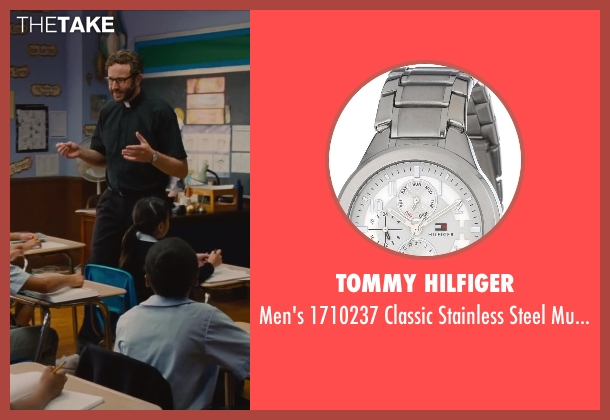 Tommy Hilfiger silver watch from St. Vincent seen with Chris O'Dowd (Brother Geraghty)