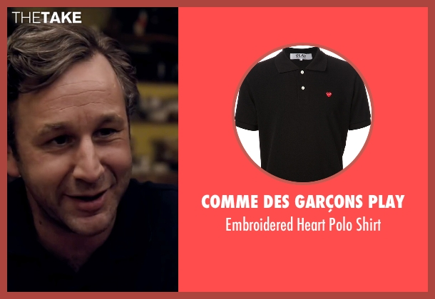 Comme Des Garçons Play black shirt from The Program seen with Chris O'Dowd (David Walsh)