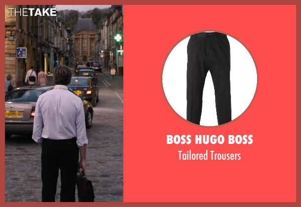 Boss Hugo Boss black trousers from The Program seen with Chris O'Dowd (David Walsh)