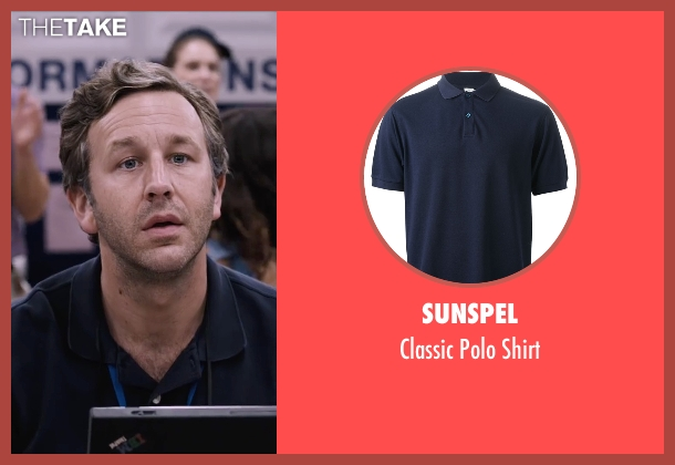 Sunspel blue shirt from The Program seen with Chris O'Dowd (David Walsh)