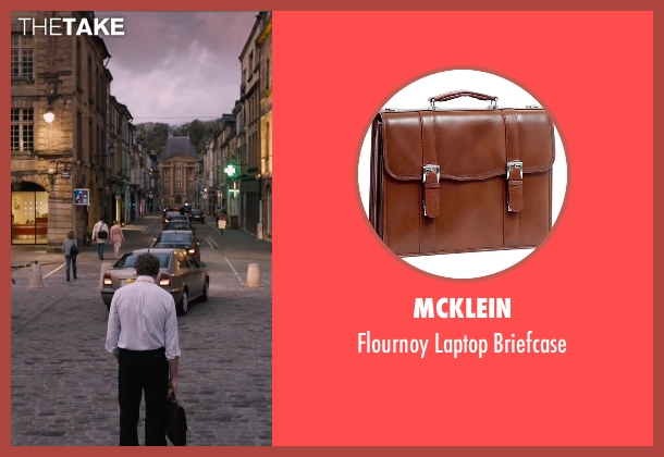 McKlein brown briefcase from The Program seen with Chris O'Dowd (David Walsh)