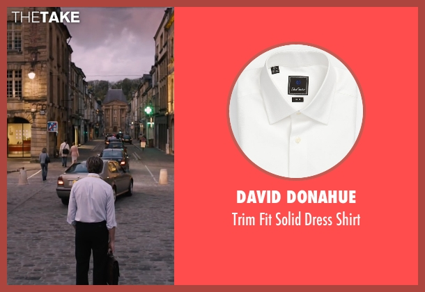 David Donahue white shirt from The Program seen with Chris O'Dowd (David Walsh)