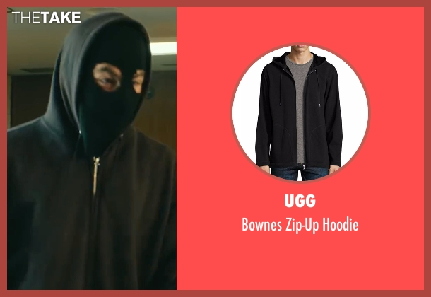 UGG black hoodie from Hell or High Water seen with Chris Pine (Toby)