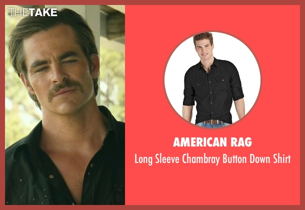 American Rag black shirt from Hell or High Water seen with Chris Pine (Toby)