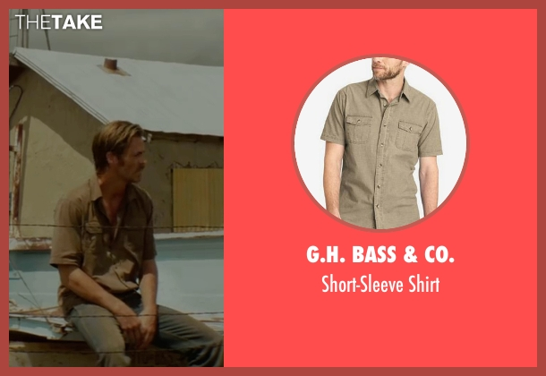 G.H. Bass & Co. brown shirt from Hell or High Water seen with Chris Pine (Toby)