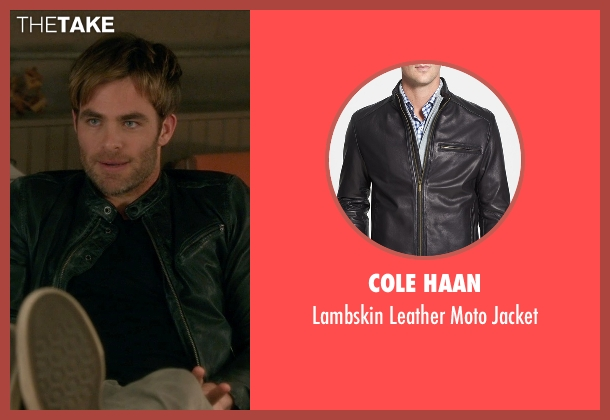 Cole Haan  black jacket from Horrible Bosses 2 seen with Chris Pine (Rex)