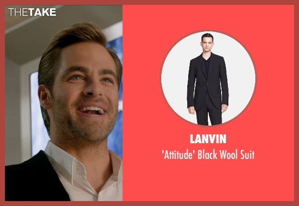 Lanvin black suit from Horrible Bosses 2 seen with Chris Pine (Rex)