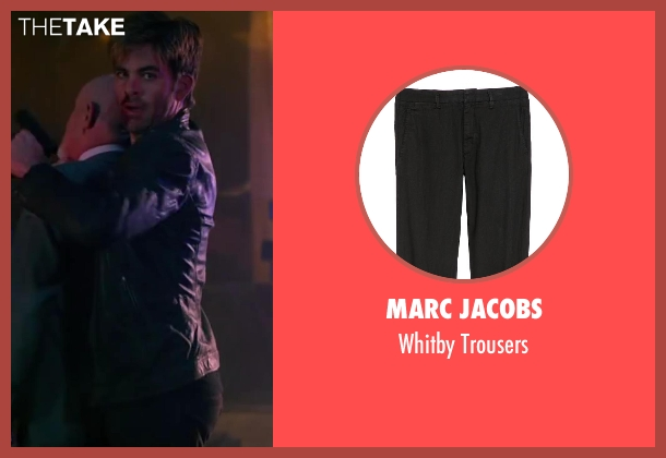 Marc Jacobs black trousers from Horrible Bosses 2 seen with Chris Pine (Rex)