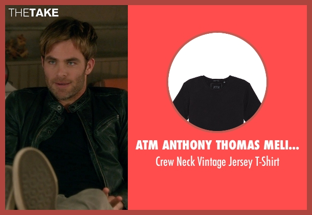 ATM Anthony Thomas Melillo black t-shirt from Horrible Bosses 2 seen with Chris Pine (Rex)