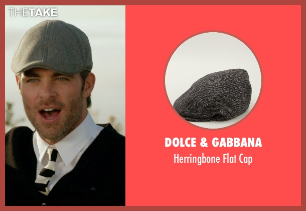 Dolce & Gabbana gray cap from Horrible Bosses 2 seen with Chris Pine (Rex)