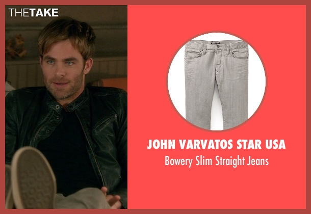 John Varvatos Star USA gray jeans from Horrible Bosses 2 seen with Chris Pine (Rex)