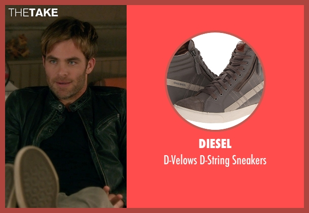 Diesel gray sneakers from Horrible Bosses 2 seen with Chris Pine (Rex)