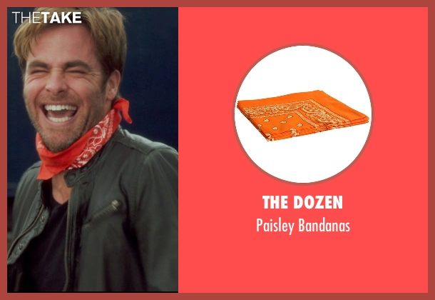 The Dozen orange bandanas from Horrible Bosses 2 seen with Chris Pine (Rex)