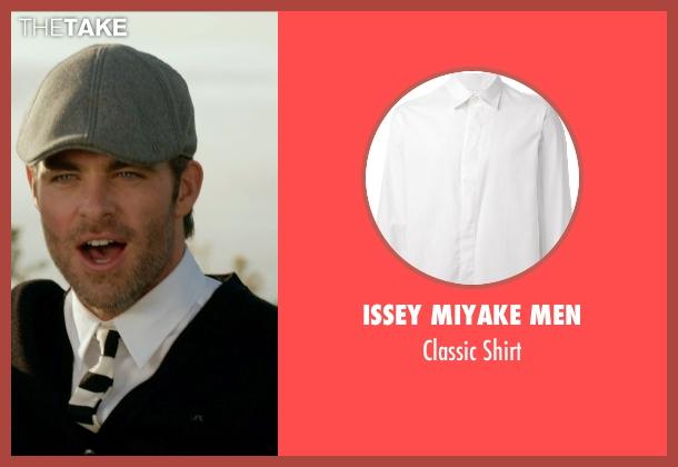 Issey Miyake Men white shirt from Horrible Bosses 2 seen with Chris Pine (Rex)