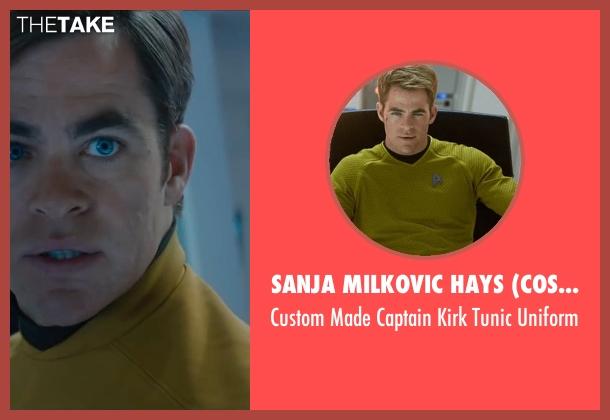 Sanja Milkovic Hays (Costume Designer) yellow uniform from Star Trek Beyond seen with Chris Pine (Kirk)